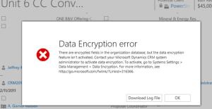 encryption error